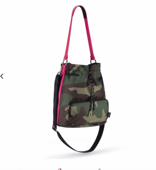 ANDI Bucket Crossbody - Pop Pink Camo