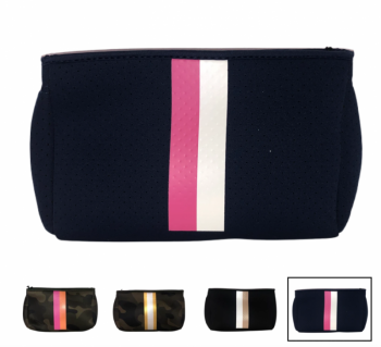 Ahdorned Neoprene Pouch - Navy/Pink