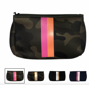 Ahdorned Neoprene Pouch - Pink/Orange Camo