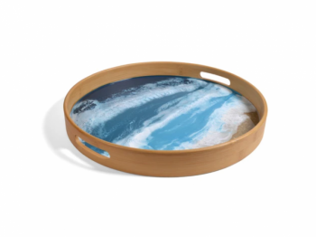 Bamboo and Resin Serving Tray