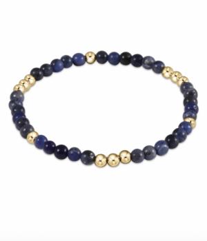 enewton Gold Beaded Gemstone Bracelet - 4mm Sodalite