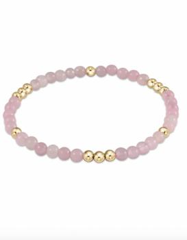 enewton Gold Beaded Gemstone Bracelet - Rose Quartz
