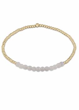 enewton Gold Beaded Bracelet - 2mm Moonstone