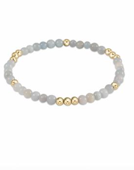 enewton Gold Beaded Gemstone Bracelet - 4 mm Aquamarine