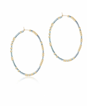 enewton Hope Unwritten Hoop Earrings - Dusty Blue