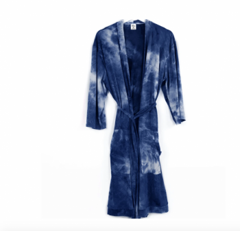 Dyes The Limit Lounge Robe - Navy