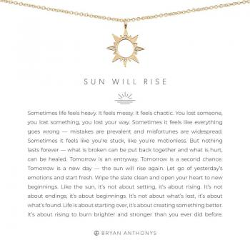 Bryan Anthonys Necklace - Sun Will Rise (Gold)