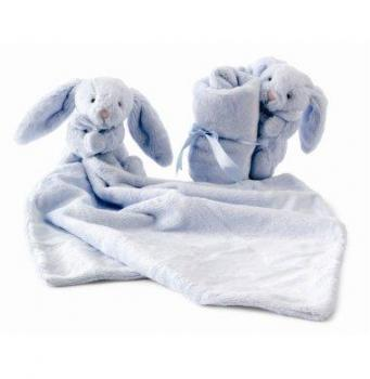 Bashful Bunny Light Blue Soother