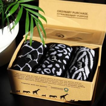 Socks That Protect Wild Animals (Gift Box - Set of 3 Pairs)