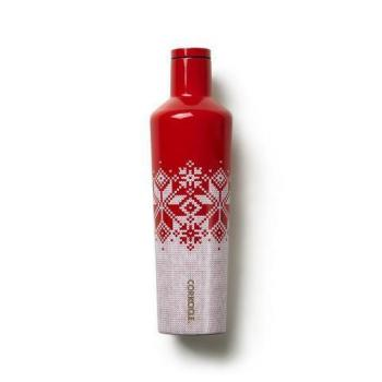 Corkcicle Canteen 25 oz - Fairisle Red