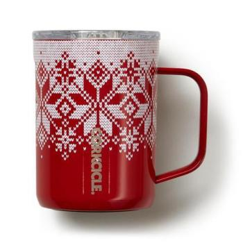 Corkcicle Mug 16 oz - Fairisle Red
