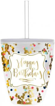 Confetti Happy Birthday Tumbler