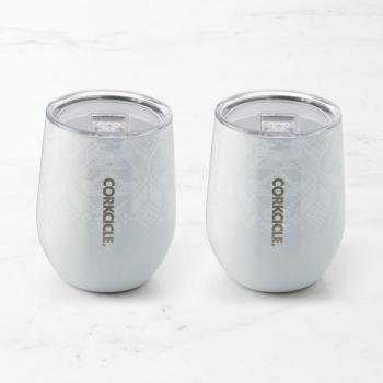 Corkcicle Stemless 12 oz - Fairisle Grey