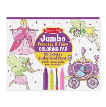 Jumbo Coloring Pad - Princess and Fairy