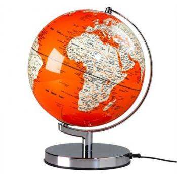 Lighted Globe - Goldfish Orange