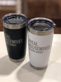 Real Housewives of New Jersey - 16 oz Tumbler (White/Navy)