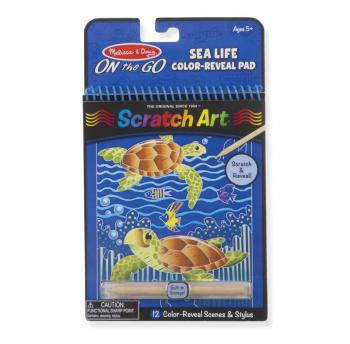Sea Life Color-Reveal Scratch Art Activity Pad