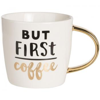 Slant Collection 14 Oz Ceramic Coffee Mug - but First Coffee