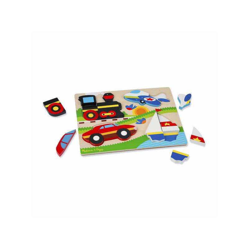 Vehicles Wooden Chunky Jigsaw Puzzle