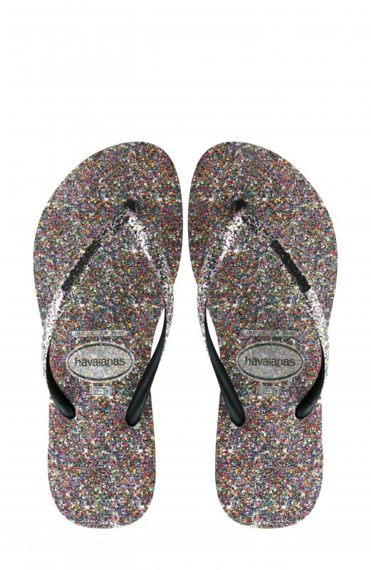 Women's Havaianas Slim Multicolor Glitter Flip Flop