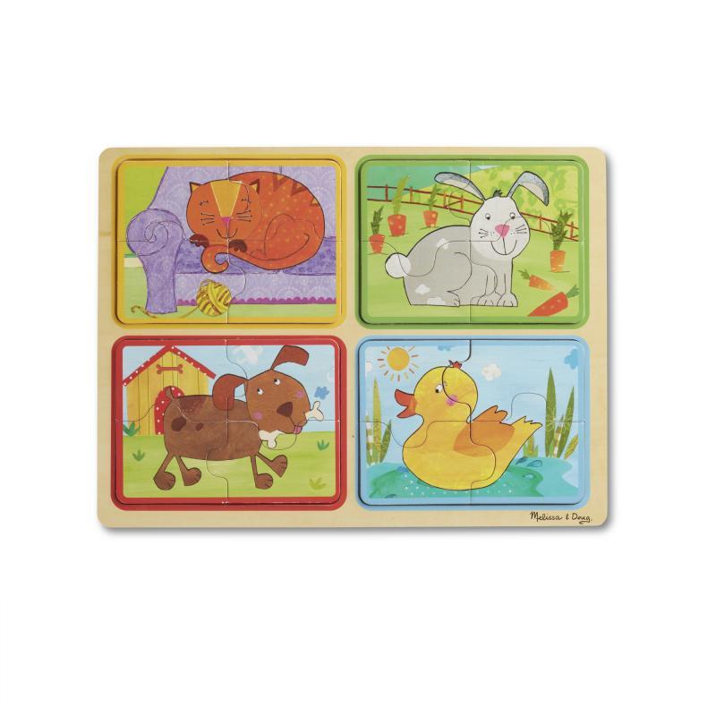 Wooden Puzzle: Playful Pals