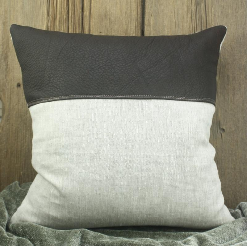 Leather & Canvas Pillow