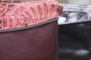 Zip Detail Evening Bag
