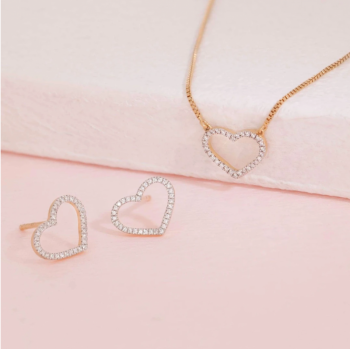 True Love Earrings and Necklace set