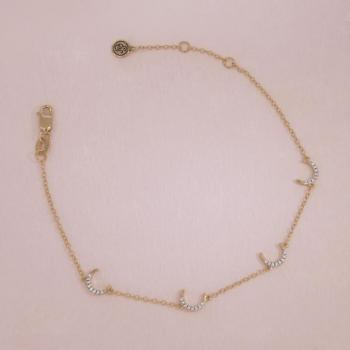 Ask For The Moon Gold Bracelet