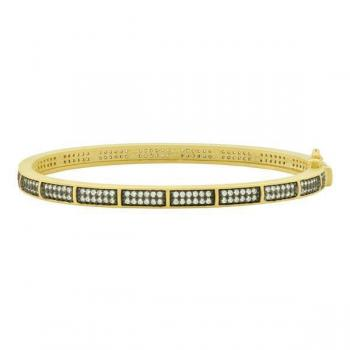 Freida Rothman Pave Hinge Bangle