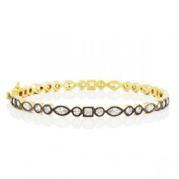 Freida Rothman Signature Mixed Shape Bangle