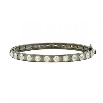 Freida Rothman Studded Eternity Hinge Bangle