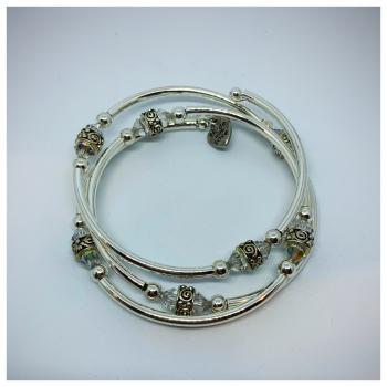 Sister's April/Crystal Bracelet