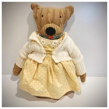 Girl Bear w/Dress & Sweater