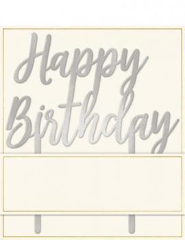 Nikisha's Happy Birthday Cake Topper