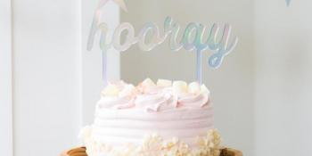 Nikisha's Hooray Cake Topper
