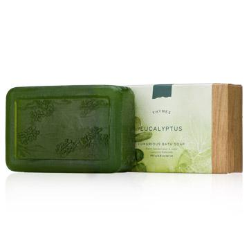 Thymes Glycerine Bar Soap, Eucalyptus, 6.8-Ounce Bar