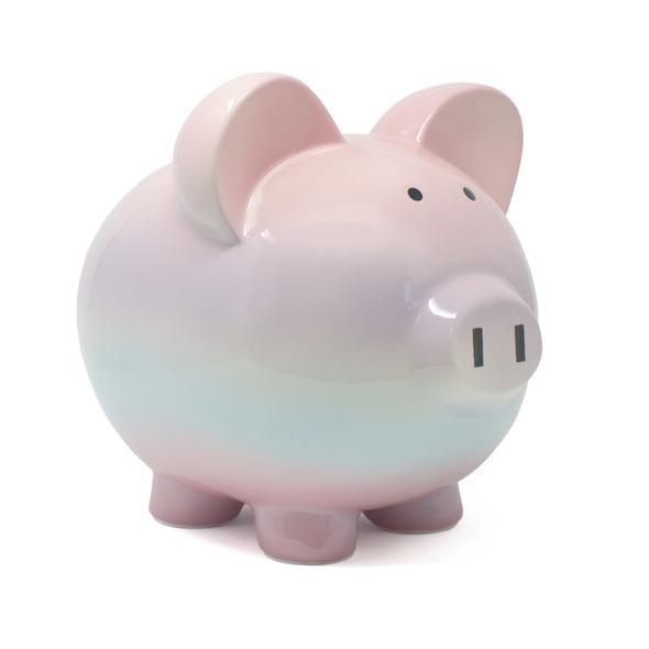 Child to Cherish Raspberry Ombre Piggy Bank