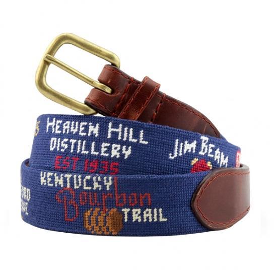 Kentucky Bourbon Trail Needlepoint Belt