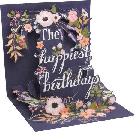 Birthday Wreath Pop up card