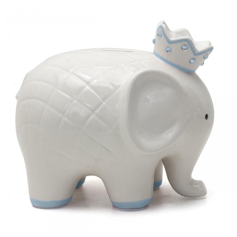 Child to Cherish Coco Elephant Blue Piggy Bank