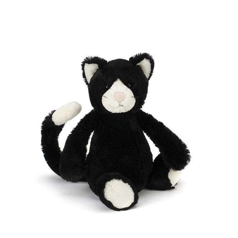 Jellycat Bashful Black & White Kitten Medium 12