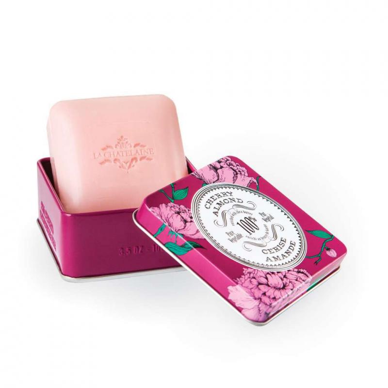La Chatelaine Cherry Almond Travel Soap 3.5oz