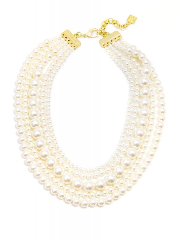 Zenzii 5 Strand Luxe Pearl Necklace