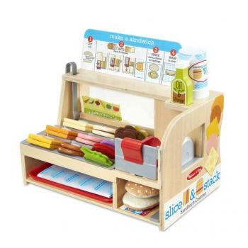 Melissa & Doug Slice & Stack Sandwich Counter Play Set