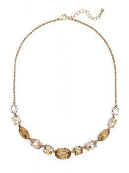 Zenzii Amber Crystals Collar Necklace