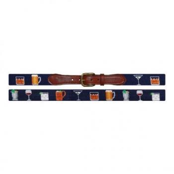 Gentlemen's Drinks Needlepoint Belt