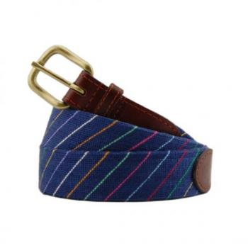 Carter Stripe Needlepoint Belt