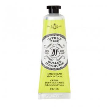 La Chatelaine 20% Shea Butter Hand Cream Trio Tin Gift Set, Citrus Frizz, Pomegranate Mulberry, Lavender