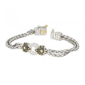 John Medeiros Antiqua Pavé One Circle Bracelet